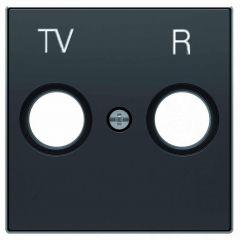 Лицевая панель ABB Sky розетки TV-R чёрный бархат 2CLA855000A1501