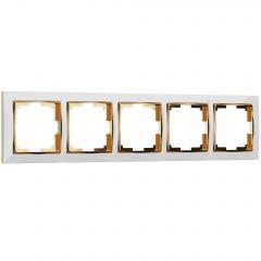 Werkel Рамка на 5 постов (белый/золото) W0051933