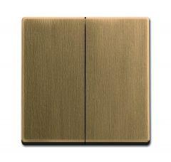 Лицевая панель ABB Dynasty выключателя двухклавишного латунь античная 2CKA001751A3117