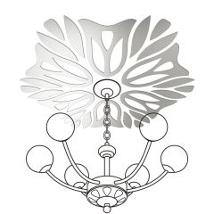 Декор настенно-потолочный Ваша Светлость ВЕРЕСК-6 хром 2-01801CR Комплект наклеек