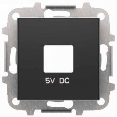 Лицевая панель ABB Sky розетки USB чёрный бархат 2CLA858500A1501