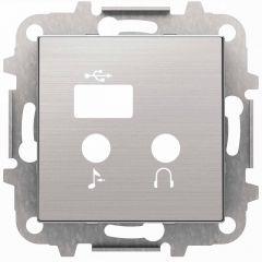 Лицевая панель ABB Sky медиа-комбайна нержавеющая сталь 2CLA856830A1401