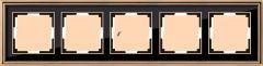 Werkel Рамка Palacio на 5 постов (золото/черный) WL17-Frame-05