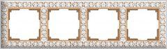 Werkel Рамка Antik на 4 поста (белое золото) WL07-Frame-04
