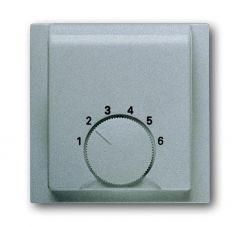Лицевая панель ABB Impuls терморегулятора серебристо-алюминиевый 2CKA001710A3744