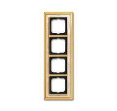 Рамка 4-постовая ABB Dynasty латунь полированная/белая роспись 2CKA001754A4573