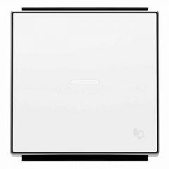 Лицевая панель ABB Sky выключателя одноклавишного с подсветкой Звонок альпийский белый 2CLA850430A1101