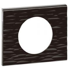 Рамка 1-постовая Legrand Celiane Corian чёрный рельеф 069021
