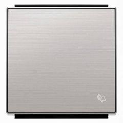Лицевая панель ABB Sky выключателя одноклавишного Звонок нержавеющая сталь 2CLA850400A1401