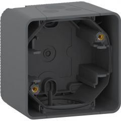 Schneider Electric MUREVA S ОДИНОЧНЫЙ БОКС для накладного монтажа, АНТРАЦИТ, IP55