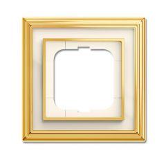 Рамка 1-постовая ABB Dynasty латунь полированная/белое стекло 2CKA001754A4560