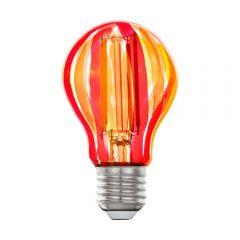 Лампа светодиодная Eglo E27 6,5W 1800K красная 12568