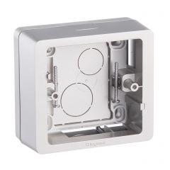 Коробка накладного монтажа 1-постовая Legrand Celiane титановая 080244