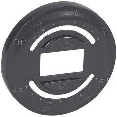 Лицевая панель Legrand Celiane программируемого выключателя привода с ежедневной программой графит 067959