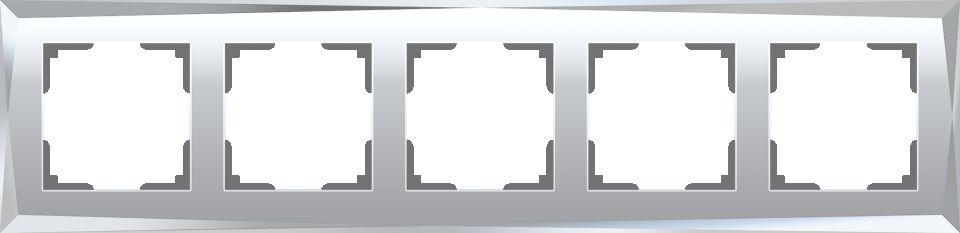 Werkel Рамка на 5 постов (зеркальный) W0051220